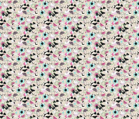 Summer Essentials Sand fabric by emmakisstina on Spoonflower - custom fabric