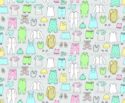 Baby Clothes Gray