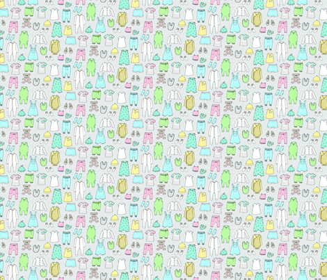 Baby Clothes Gray fabric by emmakisstina on Spoonflower - custom fabric