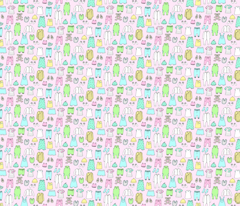 Baby Clothes Pink fabric by emmakisstina on Spoonflower - custom fabric
