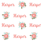 personalized name fabric cute girls monogram personalized fabric personal