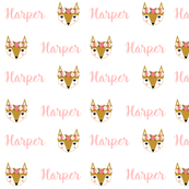 fox personalized baby fabric , personalized baby, name fabric,  cute fabric, best custom fabric, custom name fabric,