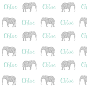 elephant personalized baby fabric , personalized baby, name fabric,  cute fabric, best custom fabric, custom name fabric,