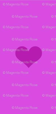 Magenta Pink heart / purple Heart / / Magenta_rose coordinate