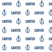 anchor personalized baby fabric , personalized baby, name fabric,  cute fabric, best custom fabric, custom name fabric,