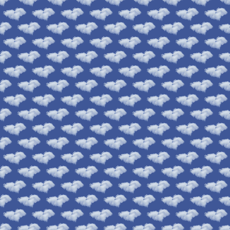 Heart Clouds for Dreamers fabric by denisebeverly on Spoonflower - custom fabric