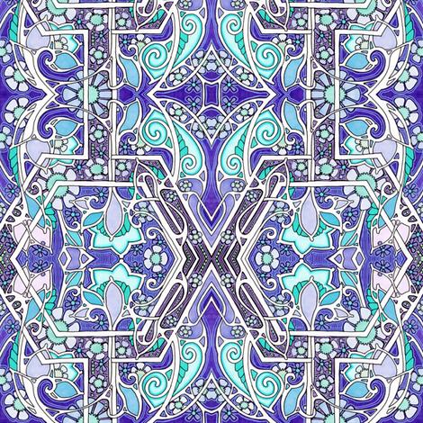 Nouveau Hexagon Tangle fabric by edsel2084 on Spoonflower - custom fabric