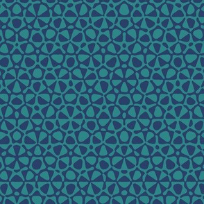 quasicrystal stars - navy and teal