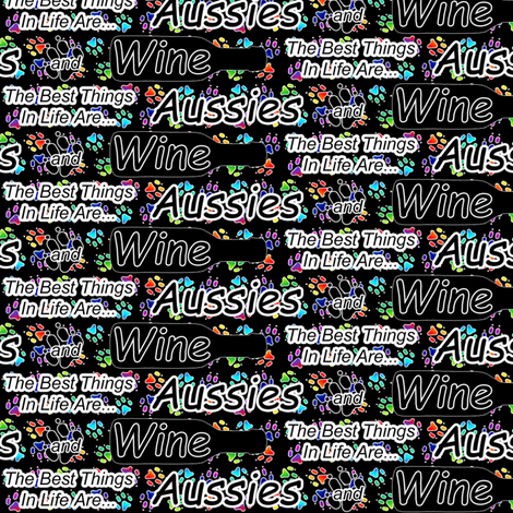 The best things are Aussies and Wine fabric by rusticcorgi on Spoonflower - custom fabric