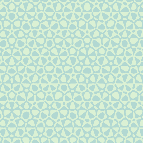 quasicrystal stars in pale mint fabric by weavingmajor on Spoonflower - custom fabric