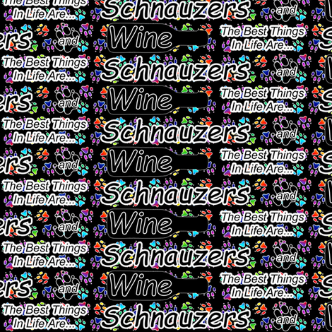 The best things are Schnauzers and Wine fabric by rusticcorgi on Spoonflower - custom fabric