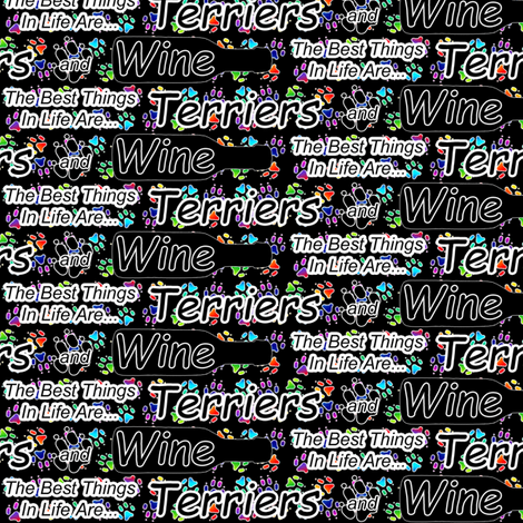 The best things are Terriers and Wine fabric by rusticcorgi on Spoonflower - custom fabric
