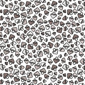 Super cool mushroom forest design fall autumn illustration gray gender neutral
