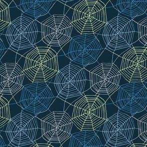 Tangled webs - blue