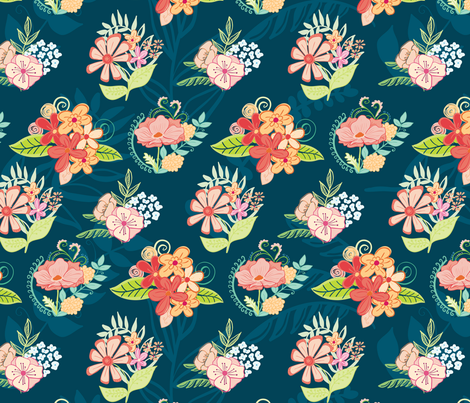 Floral Bouquet fabric by gwendegroff on Spoonflower - custom fabric