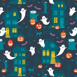 Haunted Halloween houses (small)