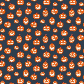 Halloween Jack O lanterns on dark gray (small)