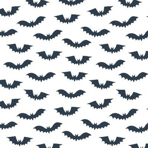 Halloween bats on white