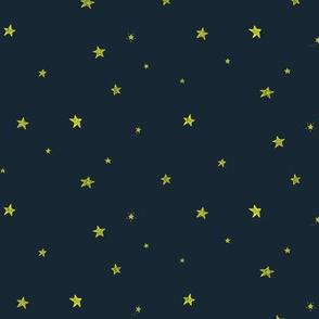 Ditsy stars - navy blue