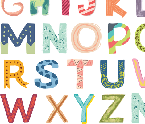 Alphabet blocks fabric by enariyoshi on Spoonflower - custom fabric
