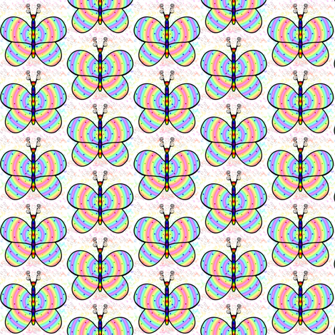 Rainbow Butterfly HH Comp fabric by flutterbi on Spoonflower - custom fabric