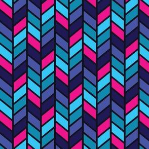 Tribal Herringbone Navy and Pink