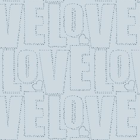 embroidered love gray fabric by keweenawchris on Spoonflower - custom fabric