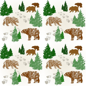 Brown Bears-Scribble