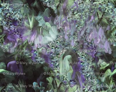 DRSC3  - Surreal Antebellum Landscape in Purple - Lavender - Teal green  - Large