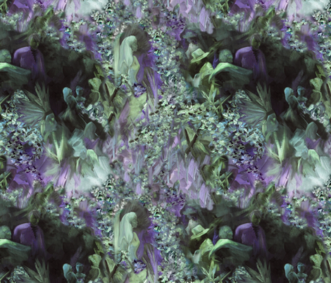 DRSC3  - Surreal Antebellum Landscape in Purple - Lavender - Teal green  - Large  fabric by maryyx on Spoonflower - custom fabric