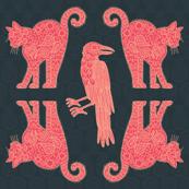 Cats vs Ravens (detail)