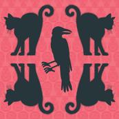 Cats vs Ravens (silhouette)