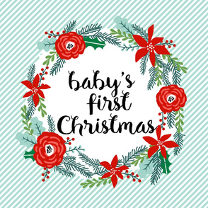 """first christmas blanket - fits one yard of 42"""" fabric"""