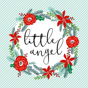little angel baby lovey cute baby christmas fabric - fits 1 FQ of minky
