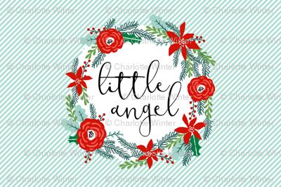 little angel crib baby blanket holiday christmas design fits 1 yard minky