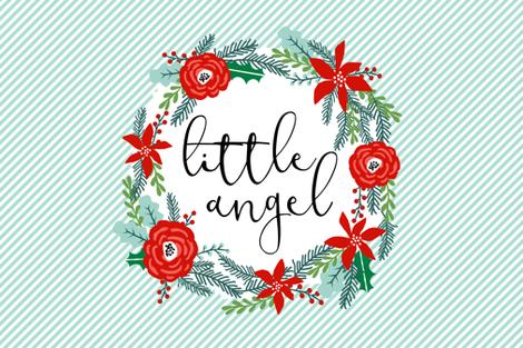 little angel crib baby blanket holiday christmas design fits 1 yard minky fabric by charlottewinter on Spoonflower - custom fabric