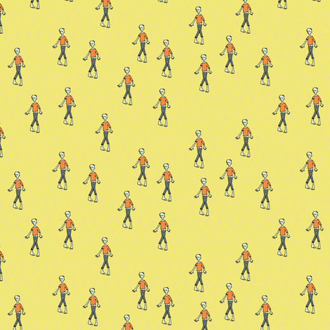 Zombie Scatter fabric by seesawboomerang on Spoonflower - custom fabric