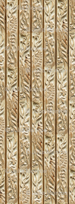 Floral Wood Carving Stripe