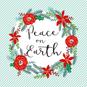 "peace on earth christmas fabric panel - fits one yard of 42"" wide fabric"