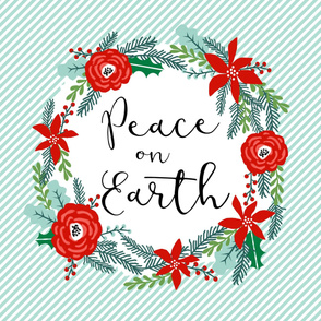 peace on earth christmas fabric - fits one yard minky