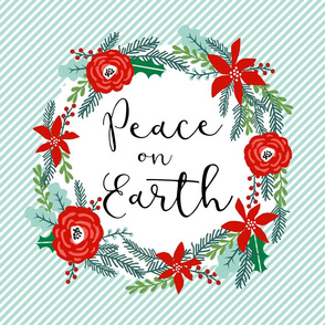 peace on earth christmas lovey - fits one FQ of minky