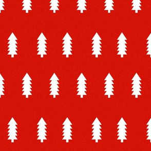 red tree christmas fir tree holiday xmas christmas fabric