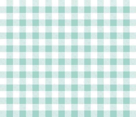mint gingham plaid check tartan mint christmas plaid tartan fabric by charlottewinter on Spoonflower - custom fabric