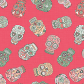 Sugar Skull Scatter (red)
