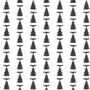 Bird and Pine Trees