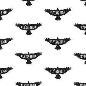 Flying High Black Bird