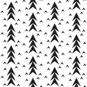 Black and White Geometric Triangle