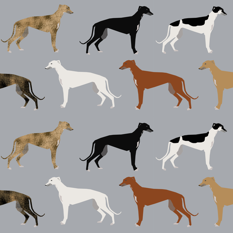 greyhounds cute dog rescue dog fabric best dogs cute dog design best dog fabric brindle dogs fabric by petfriendly on Spoonflower - custom fabric