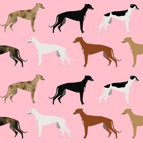 greyhound pink dogs fabric cute rescue dog print brindle greyhounds fabric cute dog fabrics dog