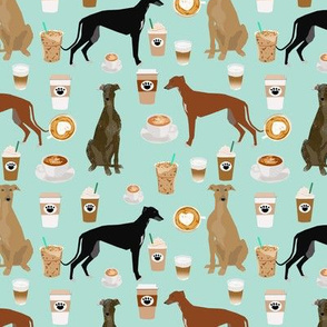 cute greyhounds mint coffee fabric best coffees latte fabric cute coffee fabric coffee fabric rescue greyhounds fabric
